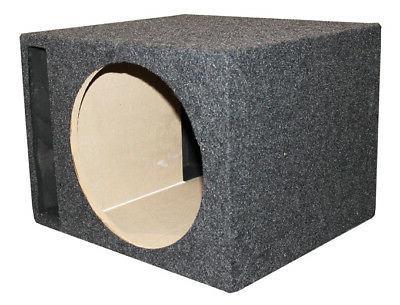 """QPower Single 12"""" Sub Enclosure Box"""