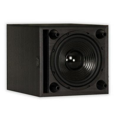 """Acoustic PSW8 Theater Powered 8"""" Black Down Firing Sub"""