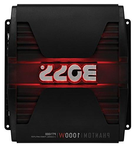 BOSS Audio PT1000 Phantom 1000 Watt, 2 Channel, 2/4 Ohm Stab