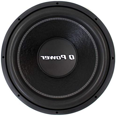 "Q-POWER QPF15 15"" 1700W Deluxe Series Dual Voice Coil Car Au"