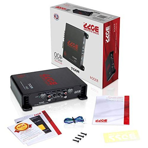BOSS Audio 4 Car – 400 Watts, Range, 2-4 Ohm Car and Car Stereo