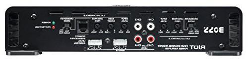 BOSS R2504 Riot Watt, 4 Channel, Ohm Class Full Range, Bridgeable, MOSFET Car Amplifier with