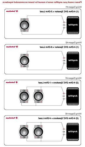 "2) ROCKFORD FOSGATE 8"" Punch 4-Ohm DVC Car Subwoofers"