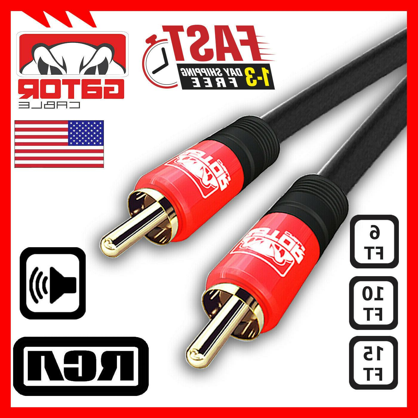 rca coaxial coax dual layer gold plated