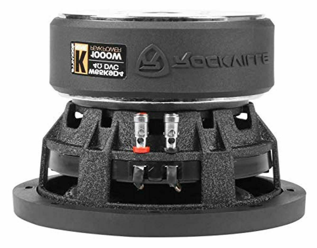 Rockville W65K9D4 Car Audio Dual 4-Ohm Sub CEA