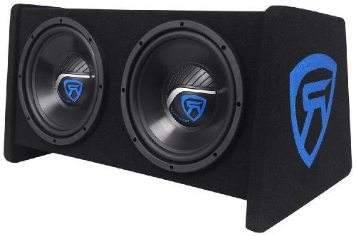 "Rockville Dual 10"" Car Subwoofer Amplifier+Amp"