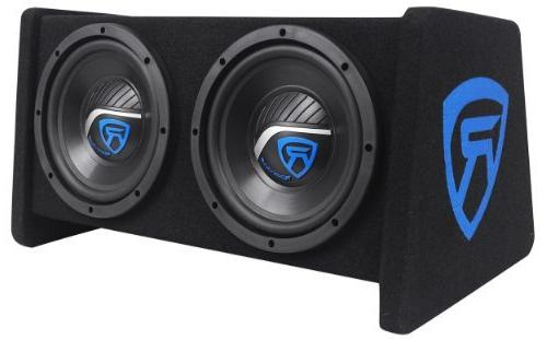 "Rockville RV8.2A Dual 8"" Subwoofer Enclosure+Mono Amplifier+Amp Kit"