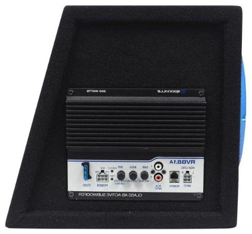 """Rockville RVB8.1A 8"""" Powered Subwoofer System+Remote+Wire Kit"""