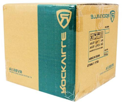 Rockville RVB8.1A Powered Car Subwoofer System+Remote+Wire Kit