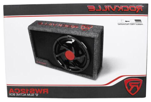 Rockville Slim Watt Powered Car Subwoofer Kit
