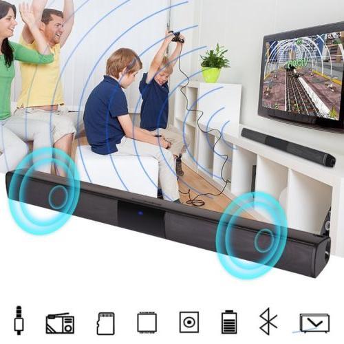 Wireless Sound Bar Speaker TV Theater Soundbar Subwoofer