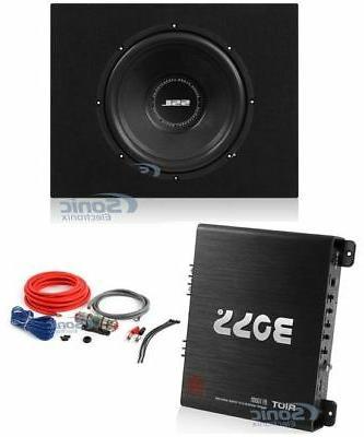 """Sound Storm SS12 12"""" 800W Subwoofer + Shallow Enclosure + Am"""