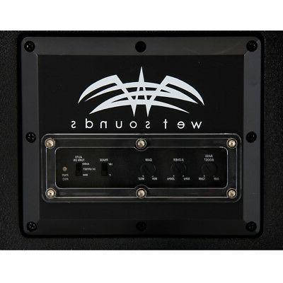 "Wet STEALTH 6"" Subwoofer Enclosure w/ 250W Built-In Amplifier"