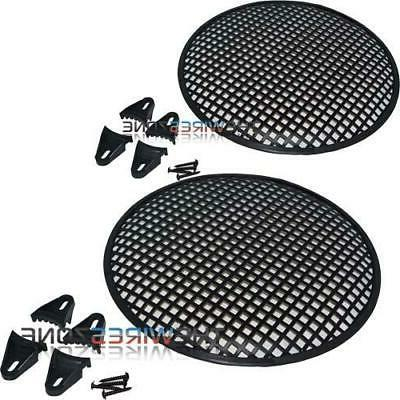 """12"""" Steel Speaker Subwoofer Sub Waffle Mesh Grill Cover w/ C"""