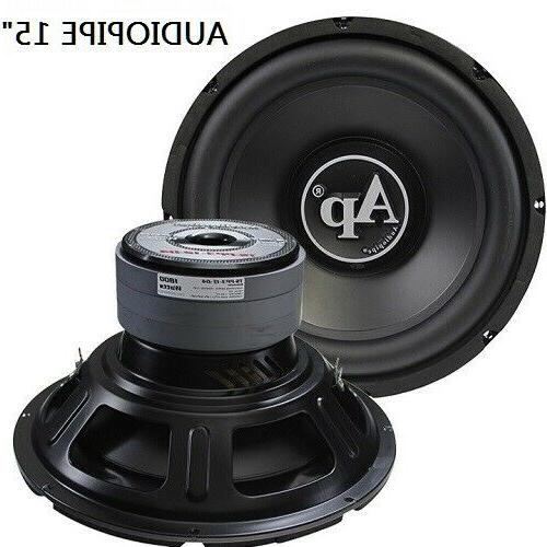"Subwoofer 15"" Audiopipe 1800w Max Dual 4 Ohm 120 Oz Triple S"
