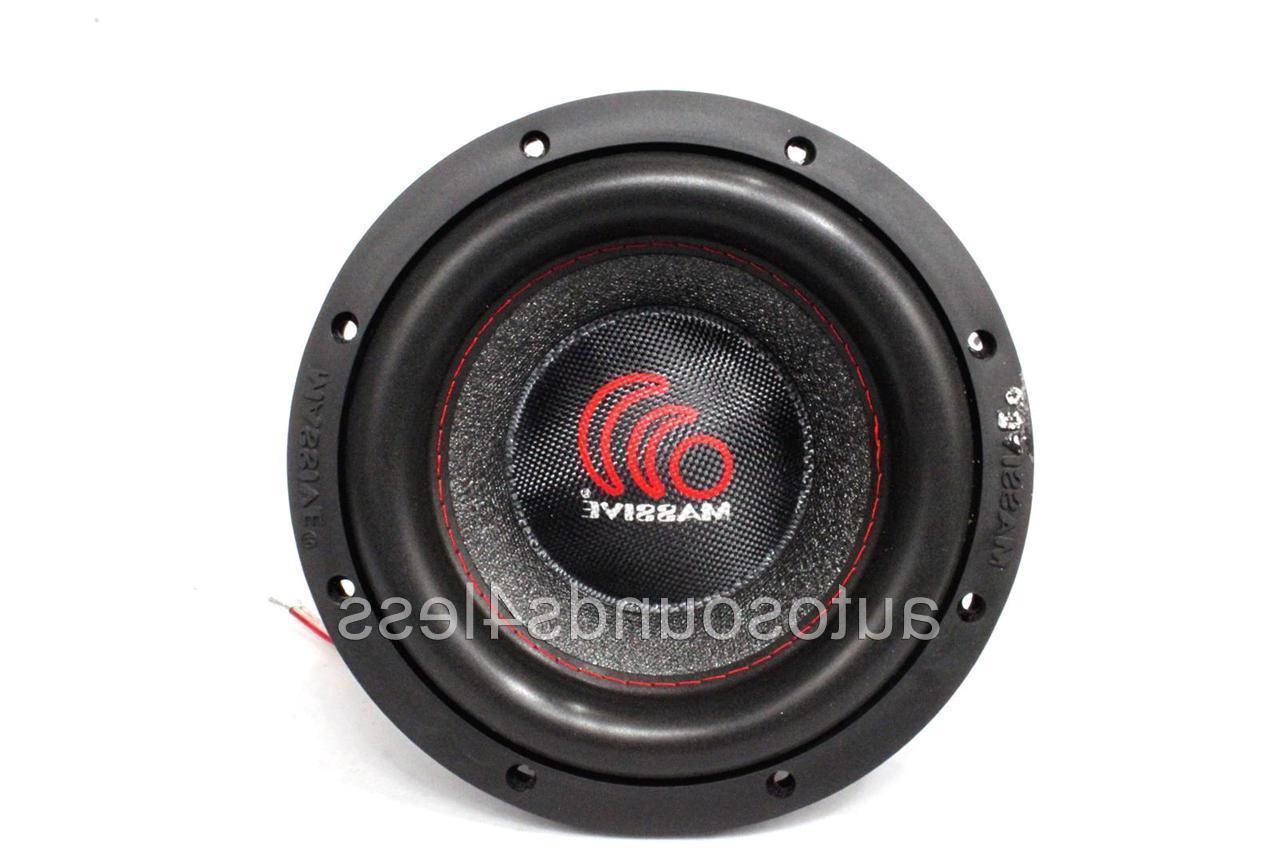 """Massive Audio SUMMO Series 600 8"""" Dual 4 Car Audio"""