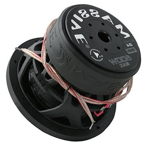 "Massive Audio SUMMO 84 SUMMO Series 600 Watts 8"" Dual 4 Ohm"