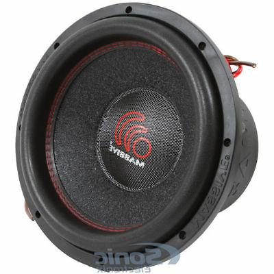 "Massive Audio SUMMOXL 104 3000 Watt 10"" Dual 4 Ohm Car Audio"