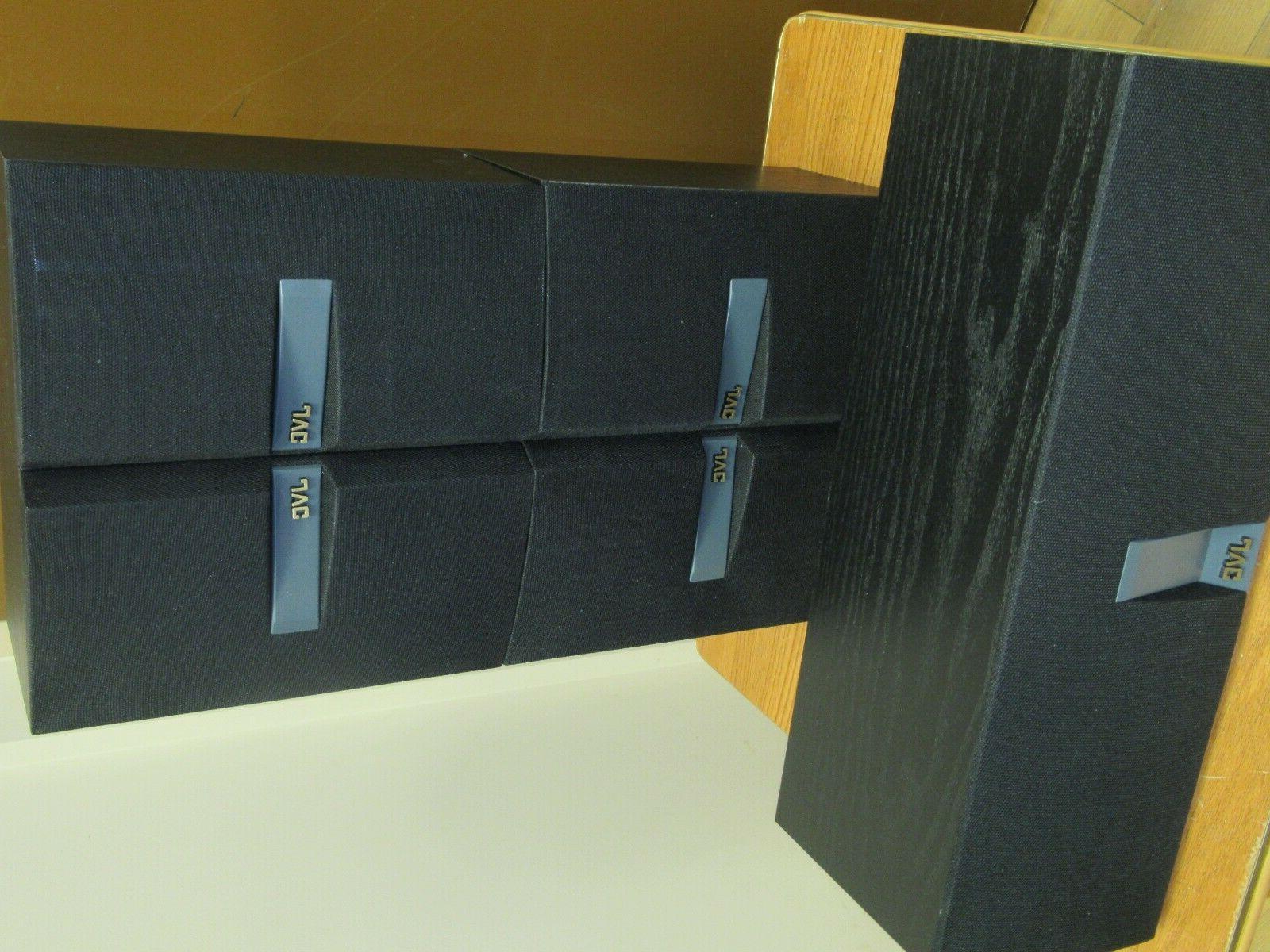 JVC speakers pair book shelf Sub