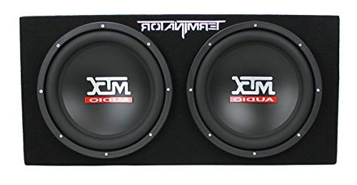 MTX Dual Loaded Box 1500W Amp Kit