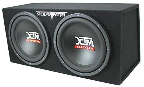 MTX 12 1200W Dual Car Subwoofers Box Planet 1500W Amp Kit