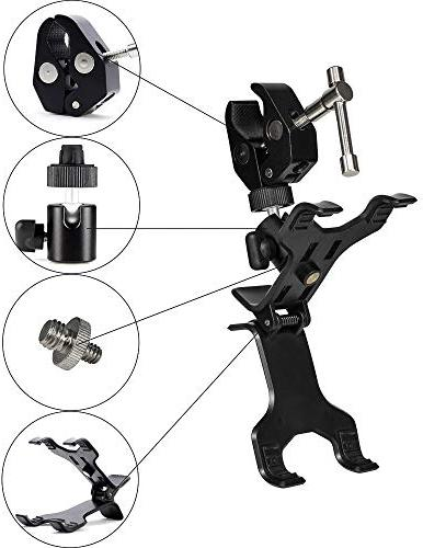 Clamptastick !- Universal Phone Holder mounting on Rearview with Mobile Android Smartphone and