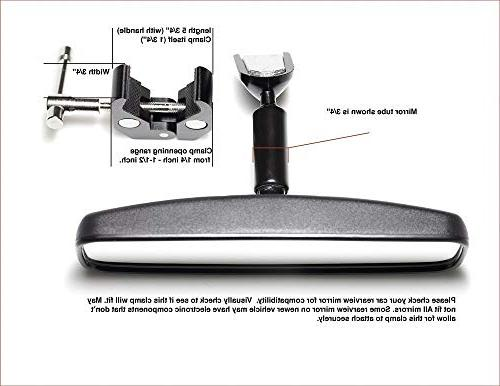 Clamptastick !- Universal Phone Holder for mounting on Rearview Compatible with Mobile Android GPS More.