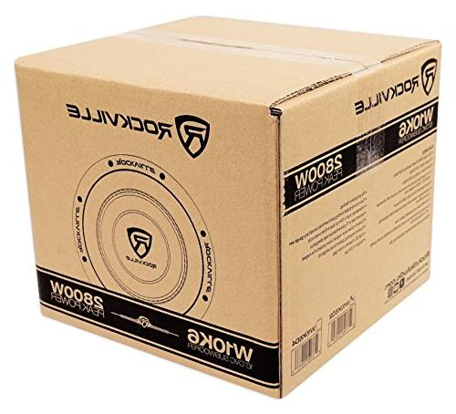 "Rockville 10"" 2000w Car Audio Dual Compliant"