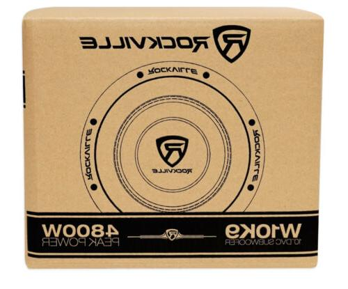 """Rockville W10K9D4 10"""" 3200w Car Audio Dual 4-Ohm Sub Compliant"""