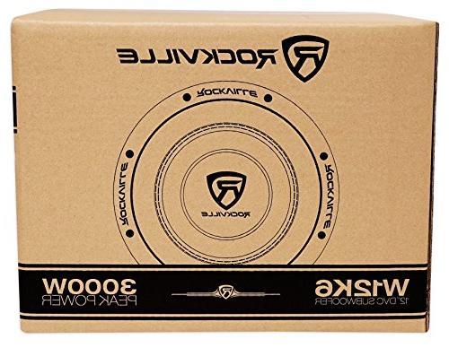 """Rockville W12K6D2 12"""" Audio Subwoofers Subs"""
