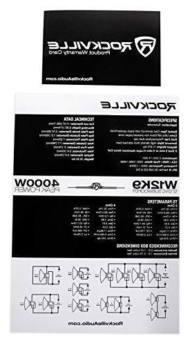 """Rockville W12K9D2 12"""" 4000w Car Audio Subwoofer 2-Ohm Sub"""