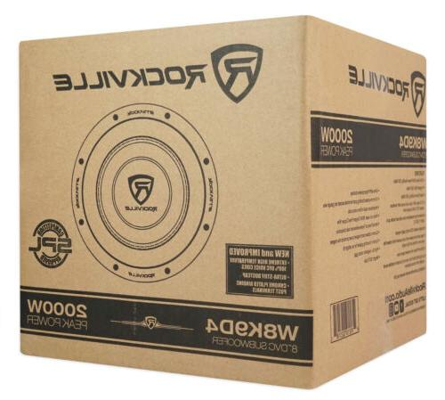 Rockville 2000w Car Audio Subwoofer Dual 4-Ohm Compliant