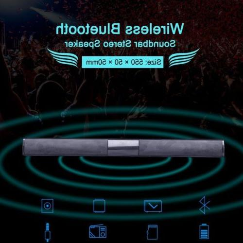 Wireless Bluetooth Speaker TV Theater Soundbar Subwoofer