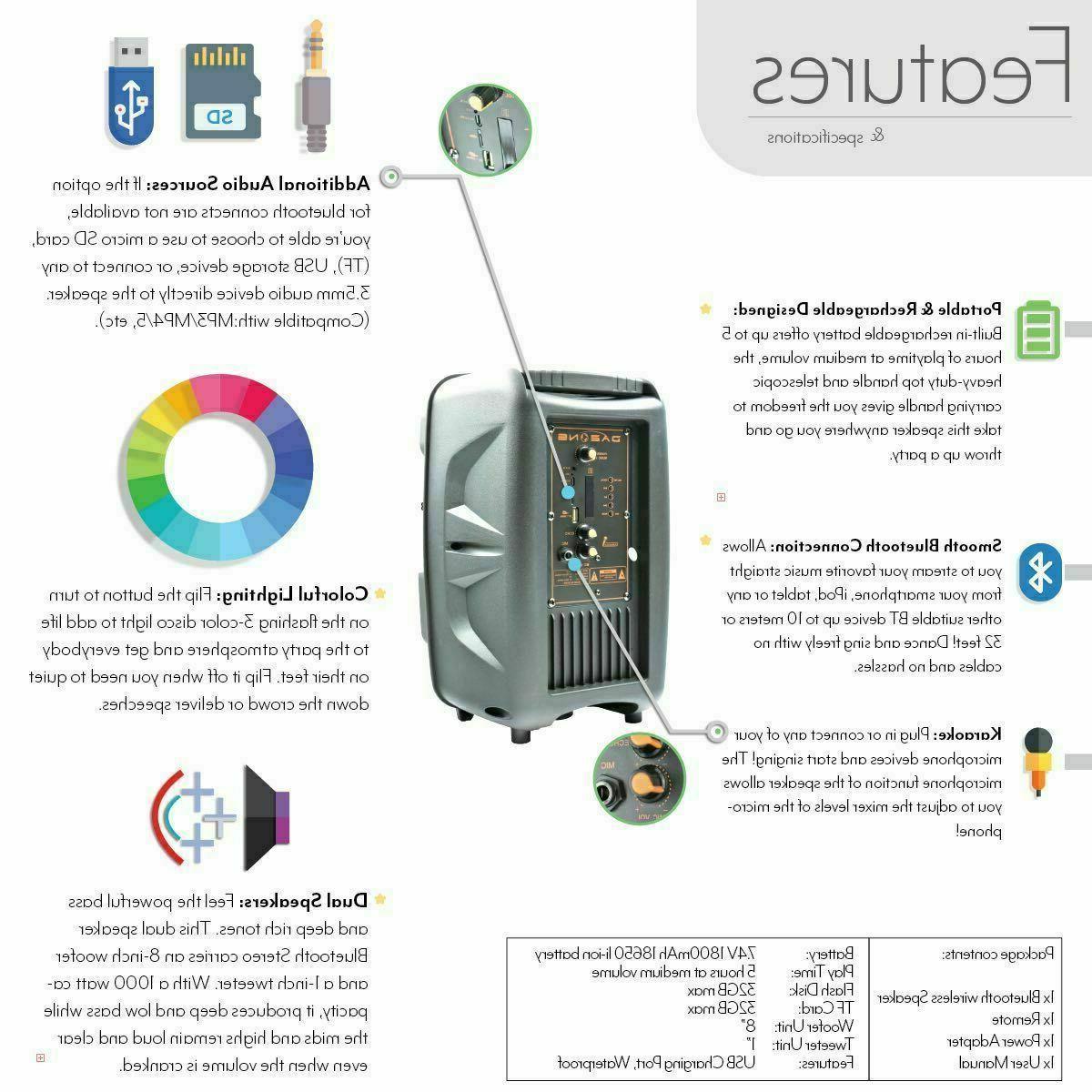 Wireless Bluetooth Speaker Subwoofer Heavy Sound Party