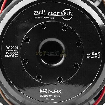 American Bass Subwoofer Dual 4 2000 Watts Audio