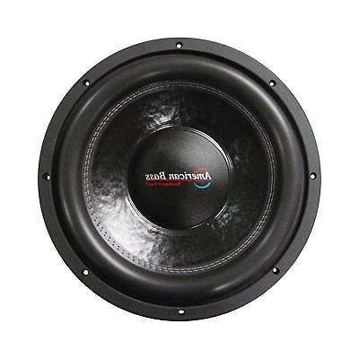 """American Bass XFL1544 15"""" Dual 4 Ohm Competition Car Stereo"""