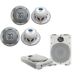 Lanzar Marine Amp Woofer and Speaker Package - AQTB8 8'' 100