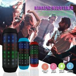 LED Bluetooth Wireless Speaker Subwoofer HIFI Stereo Portabl