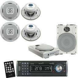 Lanzar Marine Receiver and Speaker System Package for your B