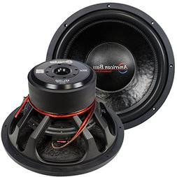 15 Inch 2000 Watt Max 2 Ohm DVC Car Woofer Speaker Woofer Ca