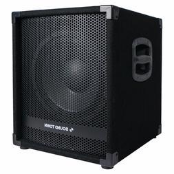 "Sound Town METIS 1400W 12"" Powered PA DJ Subwoofer w/ 3"" Voi"