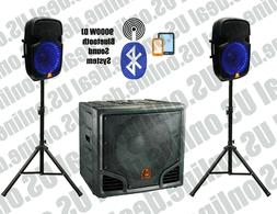 Mr. Dj PRO-SUB15BT 15-Inch 9000W max  BLUETOOTH Self-Powered