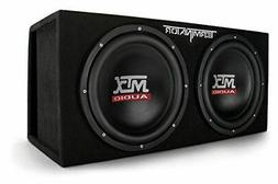 "MTX Audio TNE212DV Dual 12"" Subwoofer Vented Enclosure, Blac"