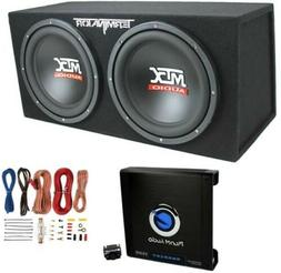 Mtx TNE212D 12-Inch 1200W Dual Loaded Subwoofers Audio With