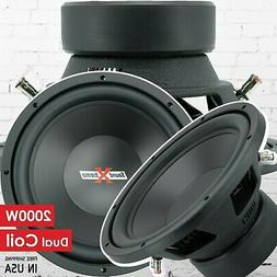 New SoundXtreme 12 Inch 2000 Watt Car Audio Subwoofer with D