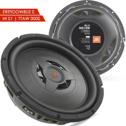 "2x New JBL CLUB WS1200 2000 Watts 12"" 2 or 4 ohm Shallow Mou"