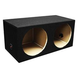 "NEW DUAL 12"" MDF Subwoofer Cabinet Box.Sealed Bass Speaker E"