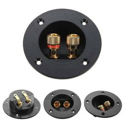 New Plug Round Boxes With 2 Banana Jack Subwoofer Speaker Te