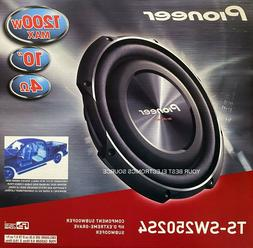 """NEW Pioneer TS-SW2502S4 10"""" Single Voice Coil 4 Ohm Shallow"""