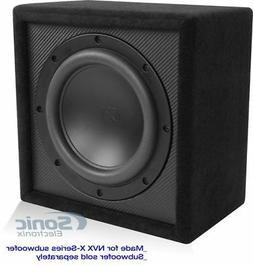 "New! NVX XQWE110S 10"" Inches Sealed Car Audio Subwoofer Box"